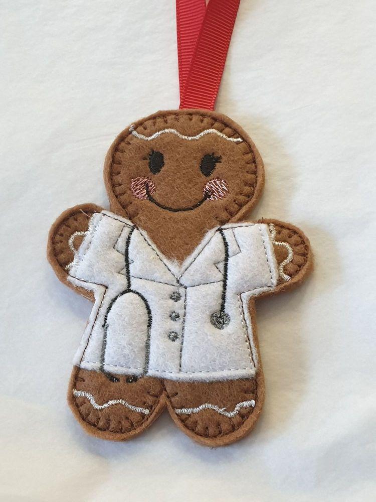 Female Doctor Gingerbread