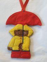 Rainy Days Gingerbread Hanger