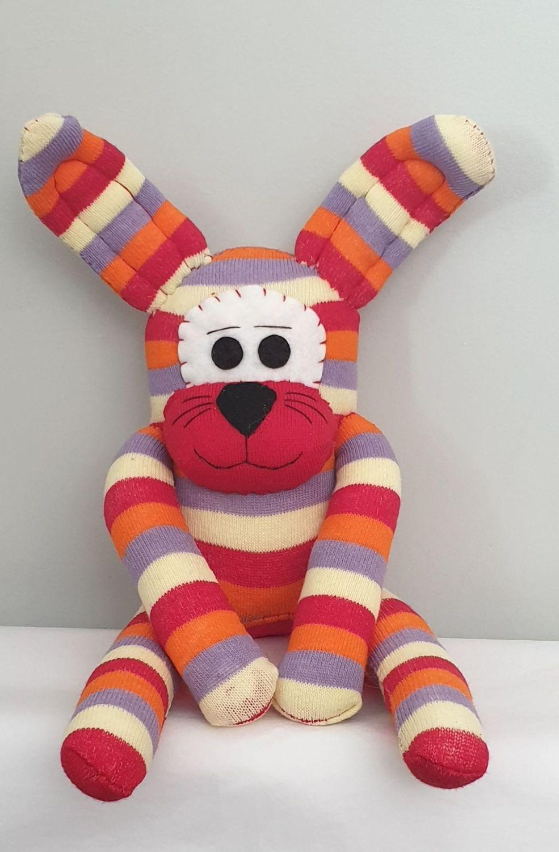 Stripey Sock Rabbit/Bunny