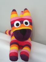 Bright Stripey  Sock Cat