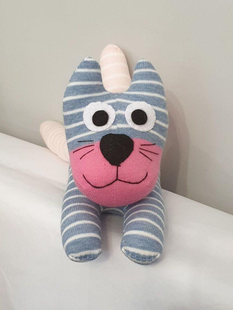 Stripey  Sock Cat