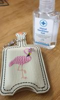 Hand Sanitiser Holder Flamingo  Design