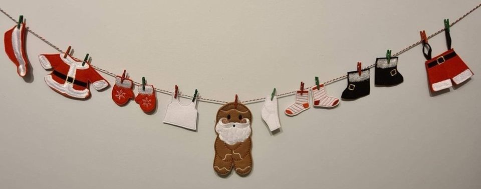Santa Washing Line