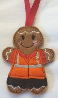Postal Worker Gingerbread