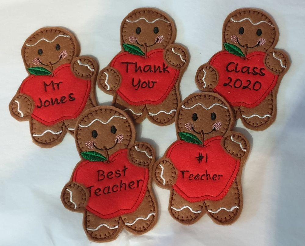 Teacher Big Apple Gingerbread