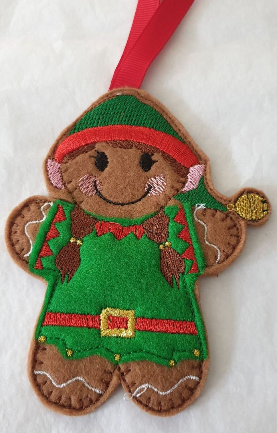 Christmas Elf Girl Gingerbread