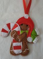 Christmas Candy Cane Gingerbread
