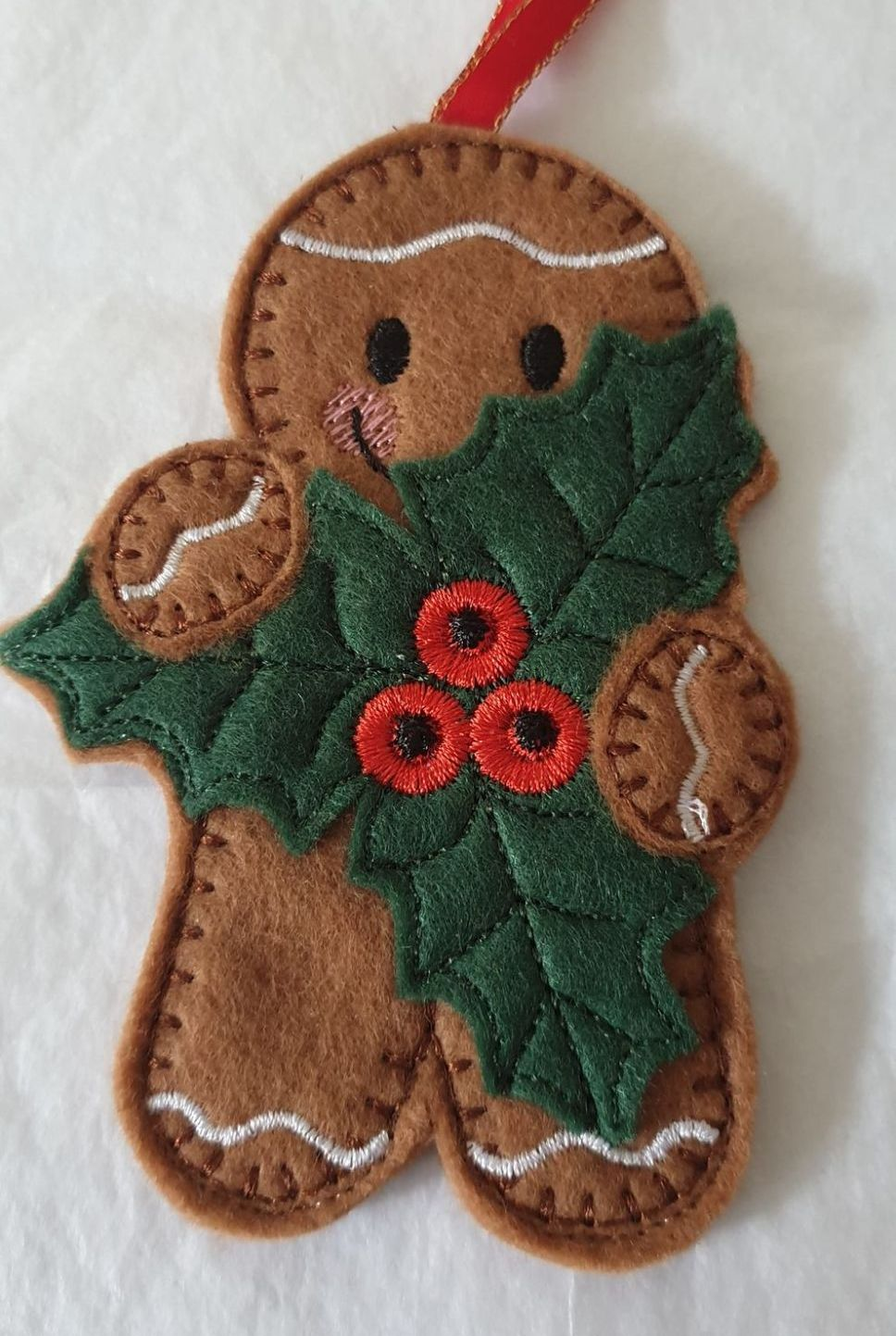 Christmas Holly Gingerbread
