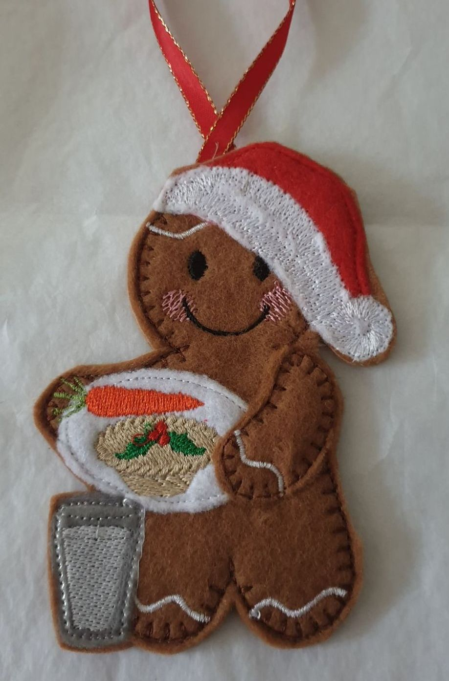 Christmas Santa Plate Gingerbread