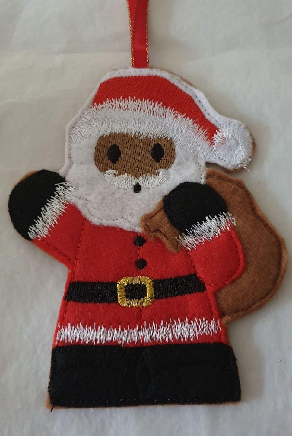 Christmas Santa with Sack Gingerbread