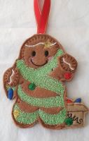 Christmas Tinsel Tangle Gingerbread