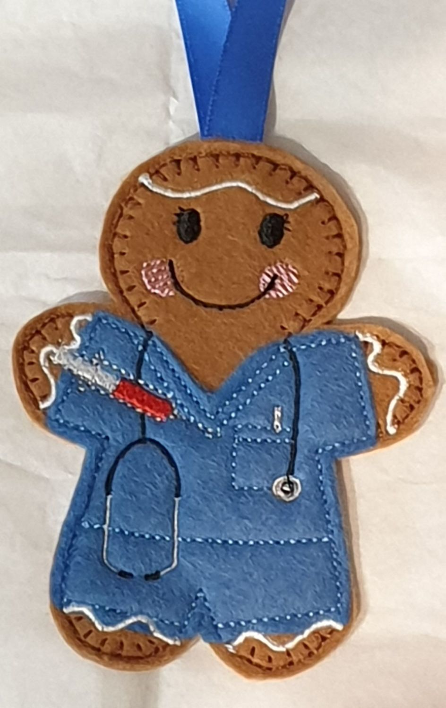 Phlebotomist Gingerbread  Hospital Worker Blood