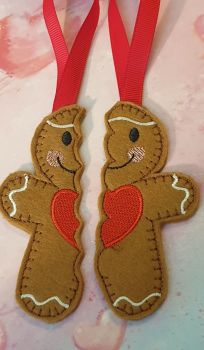 2 pieces Split -Best Friends -  Gingerbread