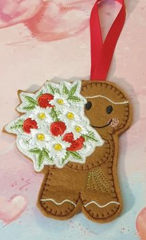 Flower Bouquet  with red Roses Gingerbread