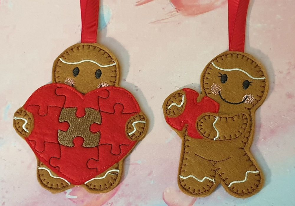Piece of my Heart Gingerbread couple