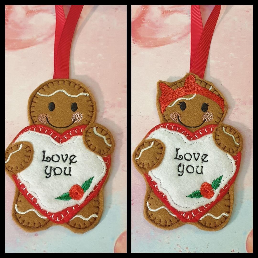 Love You Heart Gingerbread