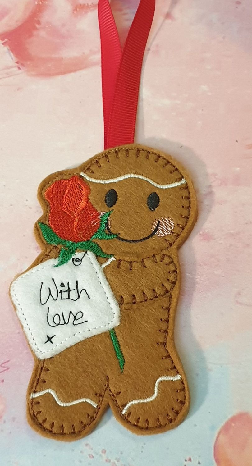 Single Red Rose Gingerbread