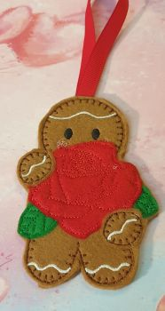 Large Red Rose Gingerbread
