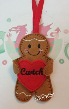 Welsh Cwtch Hug Gingerbread