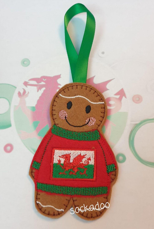 Welsh Flag Jumper Gingerbread