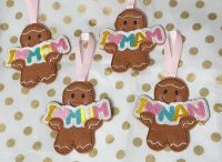 I Heart Mum, Mam or Mom and Nan  Gingerbread Mother's Day