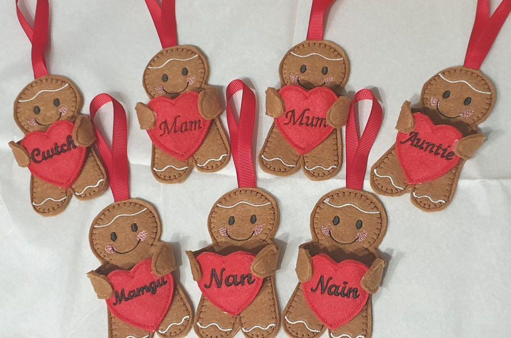 Hug  Heart Gingerbread