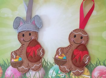 Easter Gingerbread with Easter Eggs, with or without Bunny ears