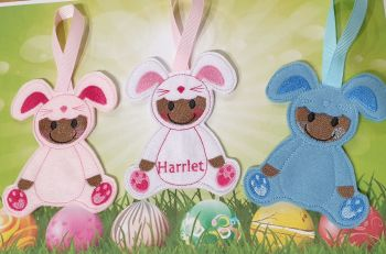 Dress up Easter Bunny Gingerbread