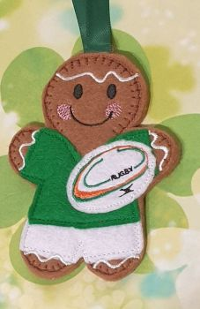 IRISH Rugby Player Gingerbread