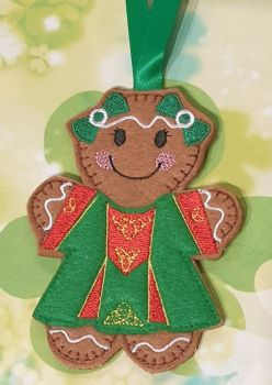 Irish Girl Dancer Gingerbread