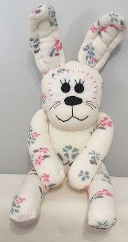 Floral Sock Rabbit/Bunny . Handmade by Sockadoo