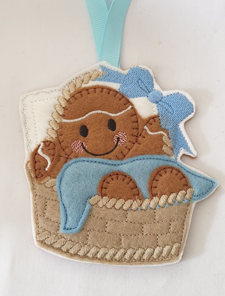 New Baby Basket  Gingerbread