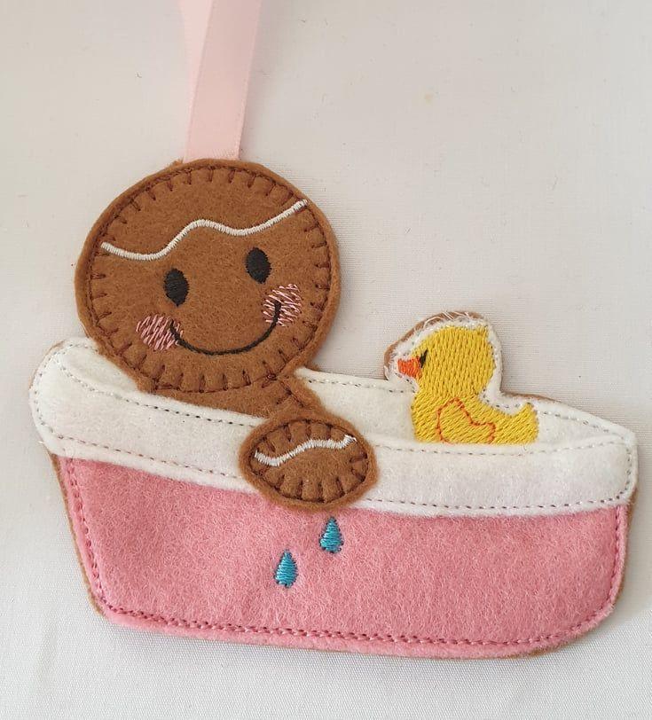 Baby Bath Gingerbread  New Baby