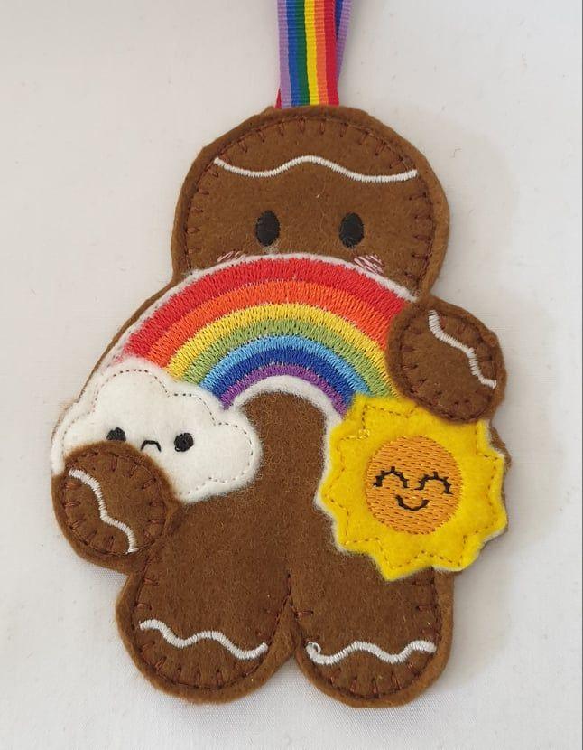 Rain & Sunshine Rainbow Weather  Gingerbread