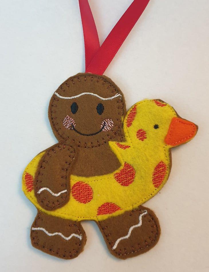 Swimming Ring Summer Gingerbread Man
