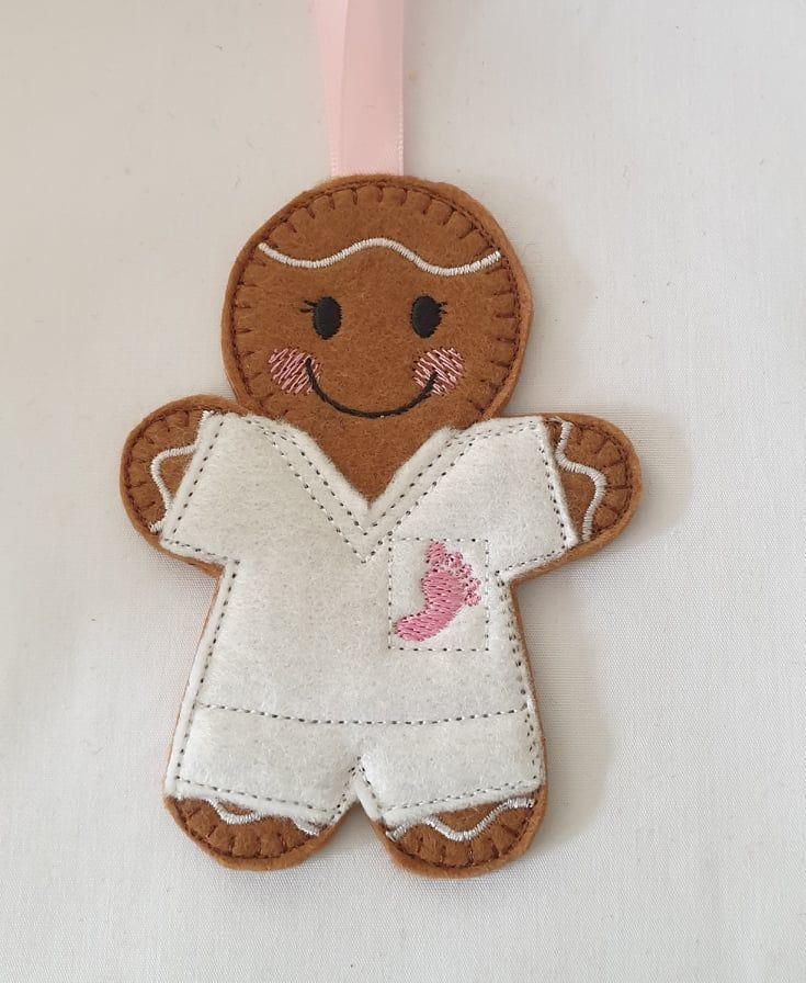 Podiatrist/Chiropodist Gingerbread Man