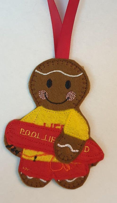 Swimming  Pool Lifeguard Gingerbread