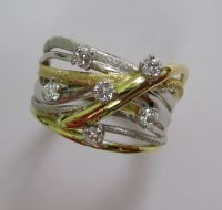 18ct Gold And Diamond Squiggle Ring