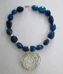 Blue Squiggle Pendant