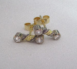 Twisted Candy Diamond Studs