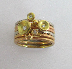 18ct Gold Lilly Stack Ring