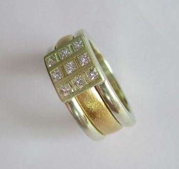 Diamond Domino Architect Spinning Ring