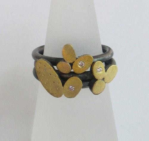 Diamond Sepal Stack Rings