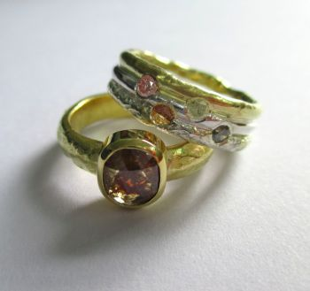 Coloured Diamond Rings