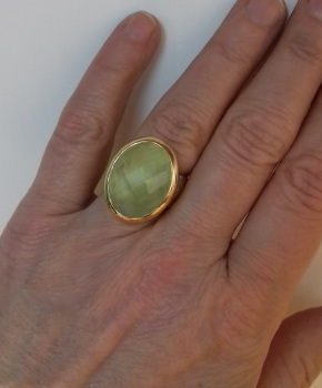 22 carat and sterling silver statement ring