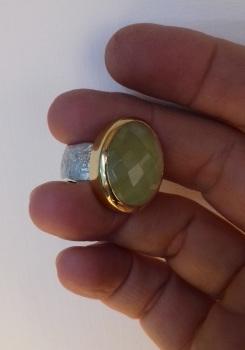 22 carat, sterling silver ring