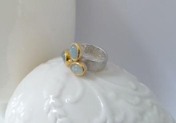 Unusual Aquamarine rings