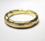 4mm Wide Rustic Organic Ring