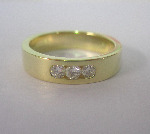 3 Diamond Channel Set Band