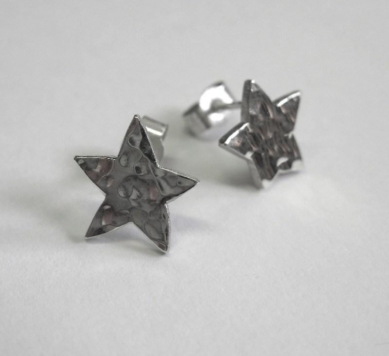 small star stud earrings